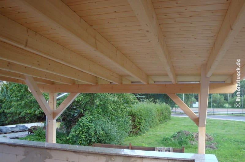 Terrassendach - Blick unter das Dach