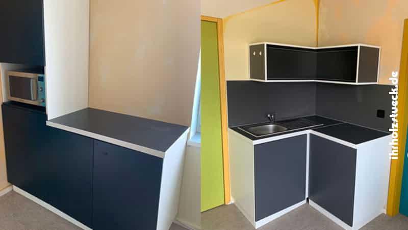 Auch in kleine Räume mit wenig Platz bauen wir mit Einzelelementen eine Küche
