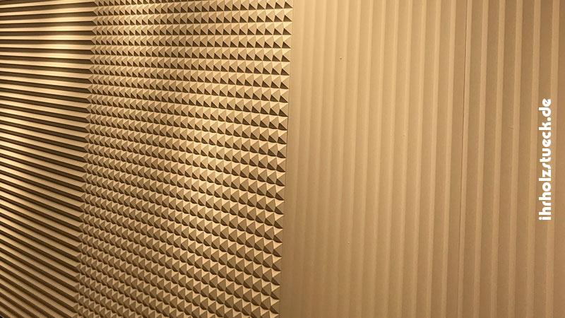 Akustikwände aus Holz
