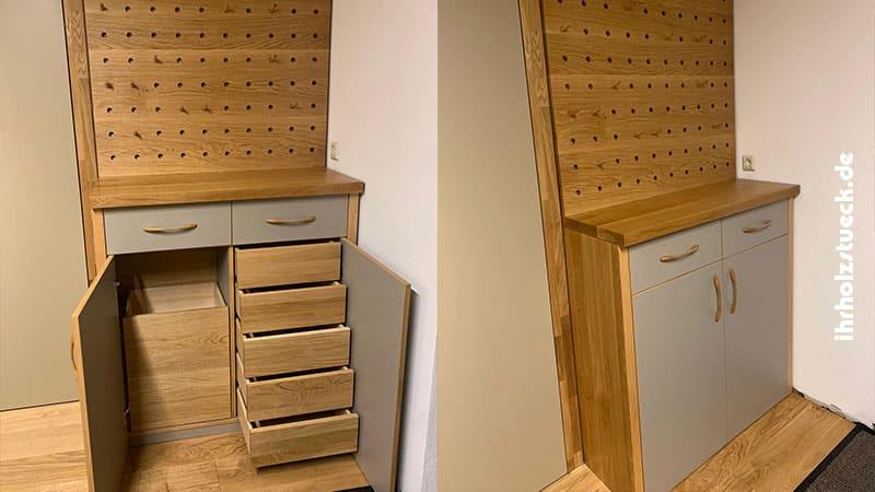Garderobe und Garderobenschrank aus Eiche