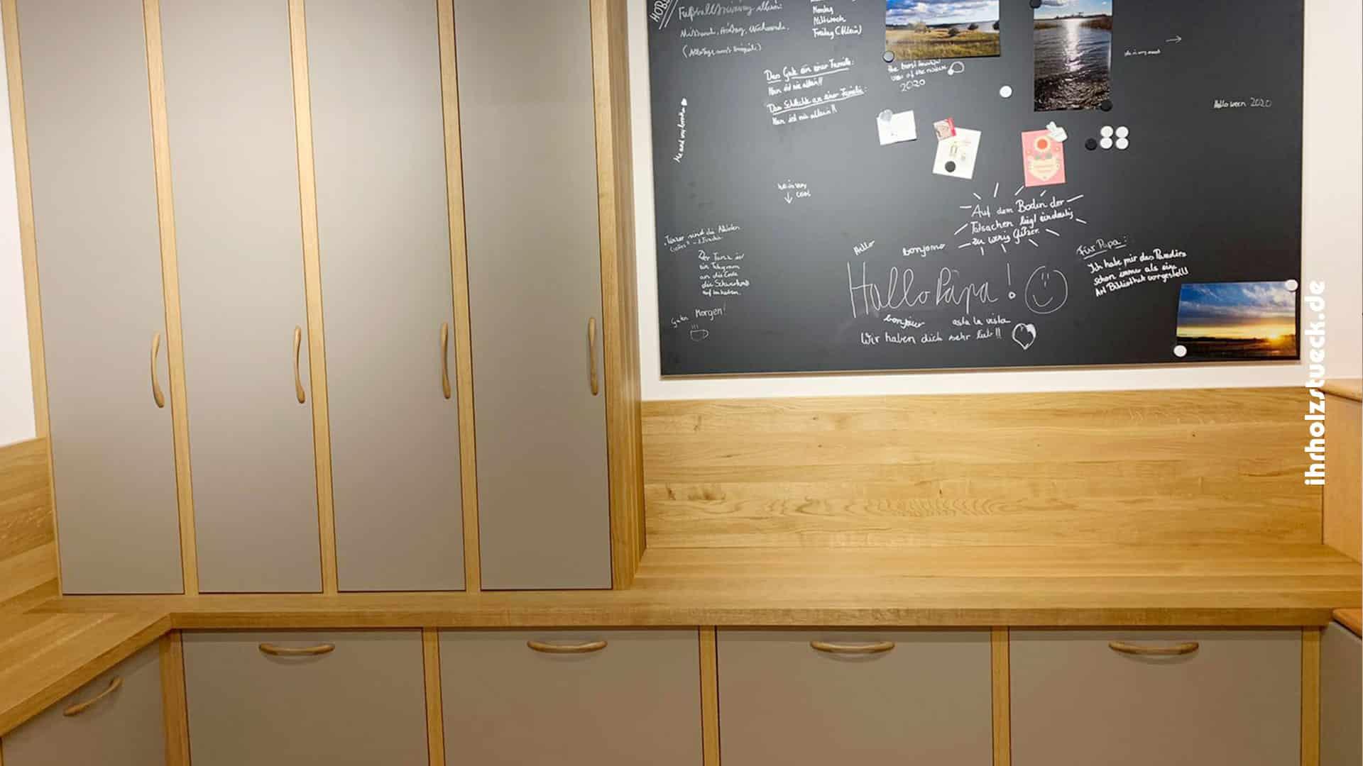 Beitragsbild - Bau von Dielenmöbeln und Einrichtung des Eingangbereich eines Einfamilienhauses - ihrholzstueck