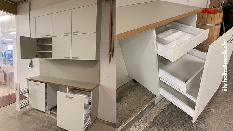 Intelligente Einbauküchen mit wenig Platzbedarf sind ideal für Büros