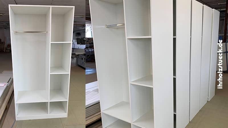 Bau von Garderobenschränken für ein Hotel nach Kundenwunsch-  ihrholzstueck