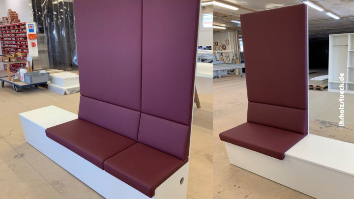 Individuelle Sitzbänke für einen Wartebereich