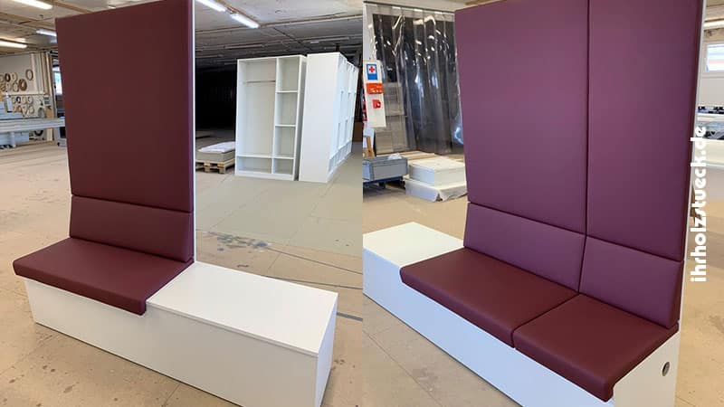 Die Sitzbänke kann man einzeln stellen oder zusammen