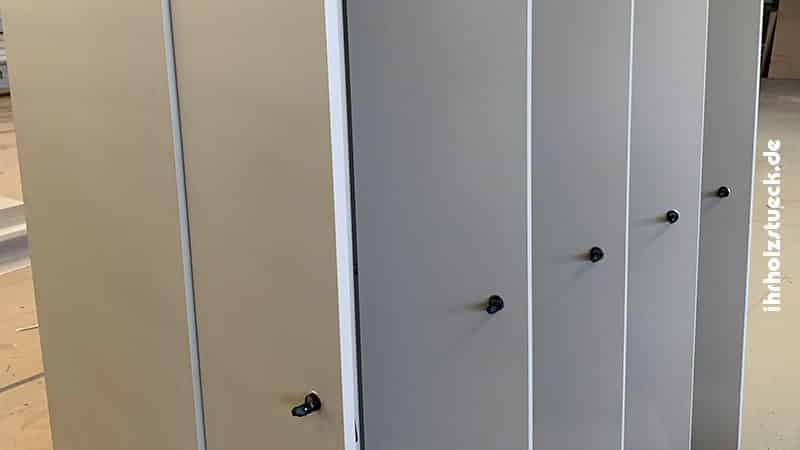 Garderobenschrank Spind verschließbar als Modul mit 5 Einheiten - ihrholzstueck