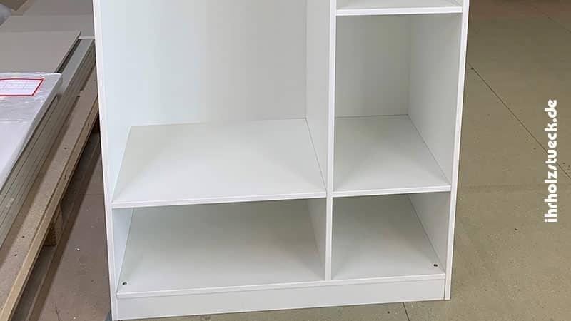 Maße und Anordnung der Ablagen nach Kundenwunsch - ihrholzstueck