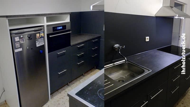 Alle wichtigen Küchenelemente wurden nach Kundenwunsch entworfen und gebaut.