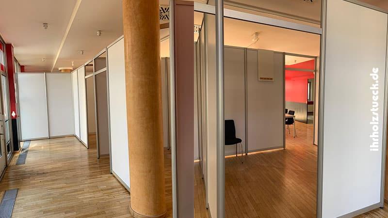 Das Klinikum Dessau war Auftraggeber für das Testzentrum im Rathaus