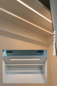 Schränke können auf Wunsch mit LED Beleuchtung ausgestattet werden